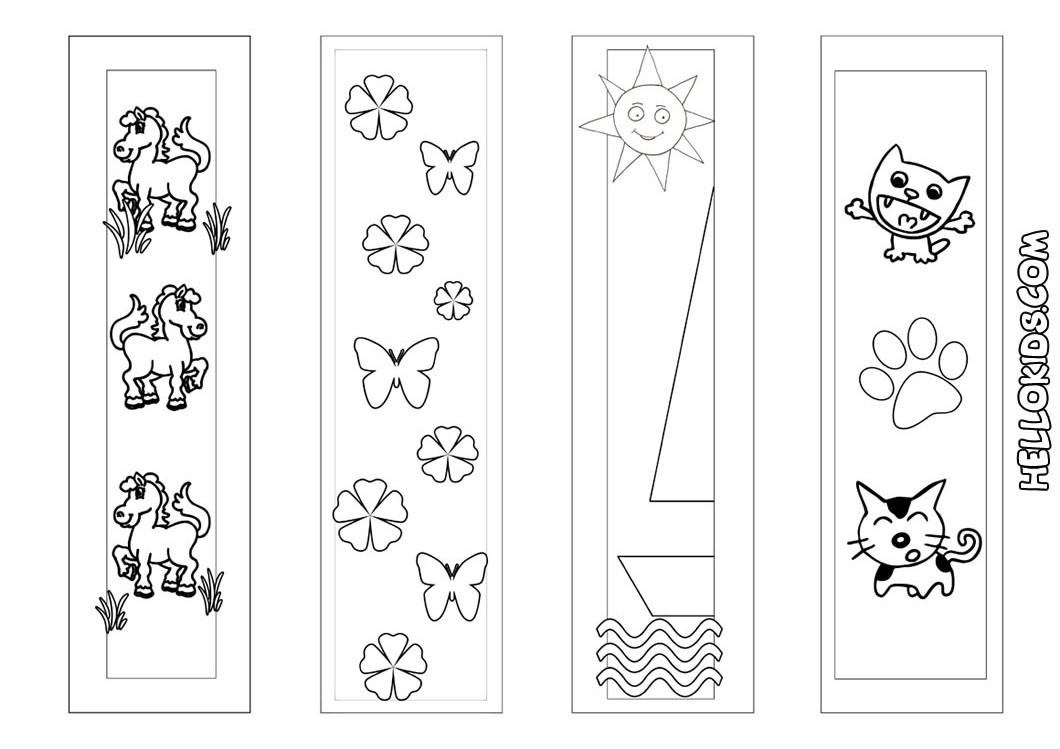 Coloring Pages For Bookmarks Our Apologies Not Posting The Weekend Wednesday Activity On