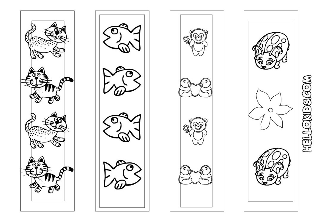 Printable Coloring Bookmarks Free : Gallery of free printable bookmarks to coloring