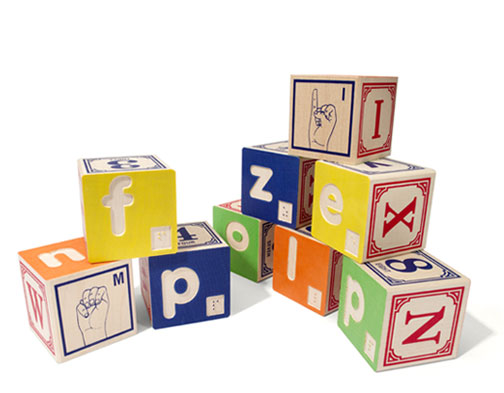 Uncle Goose Braille & Sign Language Alphabet Blocks
