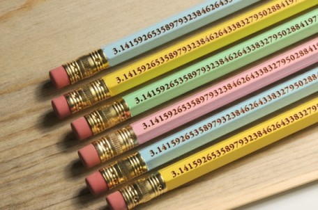 Pi pencils, at Etsy shop, Wacodis.